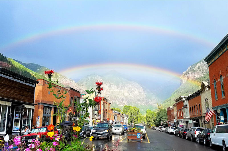 Telluride, Colorado Rainbow over Downtown