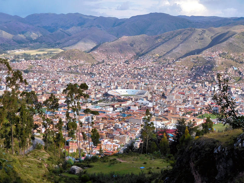 Cusco from Sacsayhuaman