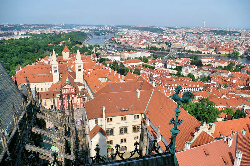 View from St Vitus Cathedral in Prague