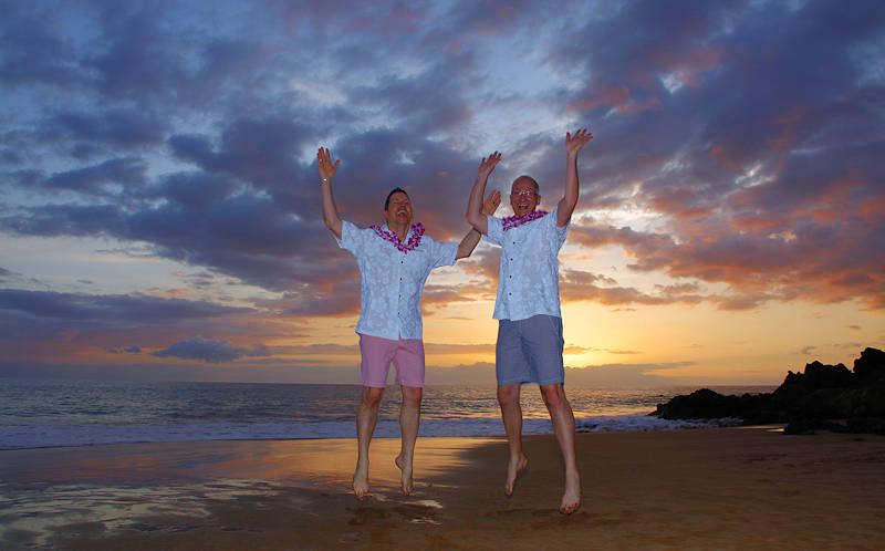 David & Mark wedding in Maui